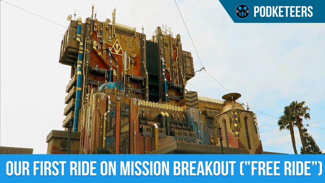"""First ride on Guardians of the Galaxy: Mission Breakout (""""Free Ride"""")!!"""