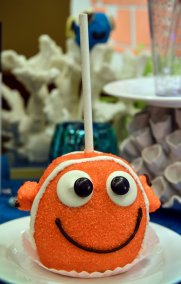 """Finding Nemo""-inspired clownfish cake pop"