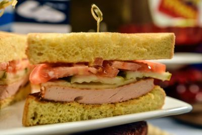 Fried bologna sandwhich