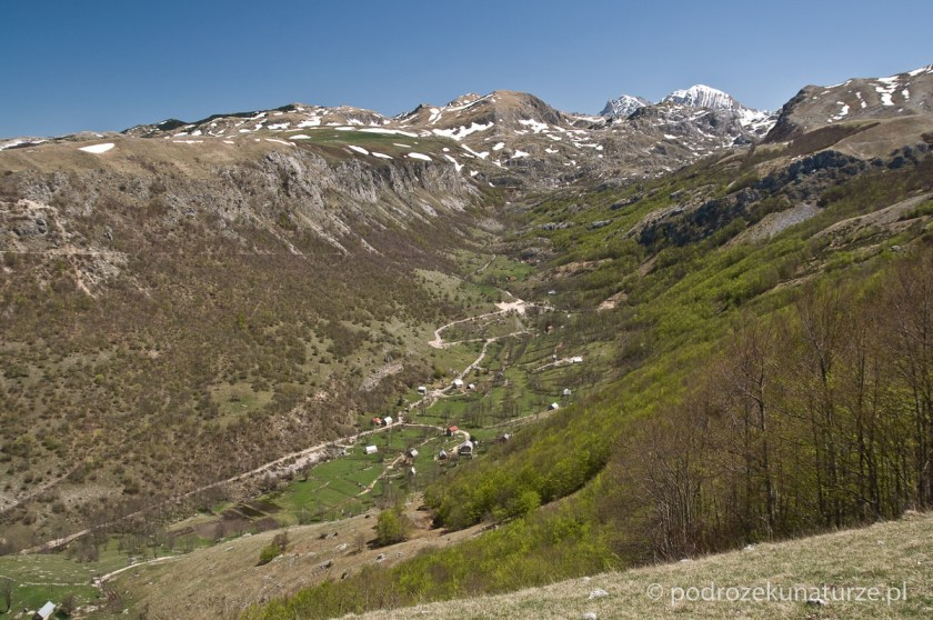 Wioska Boričje, pięknie położona w dolinie