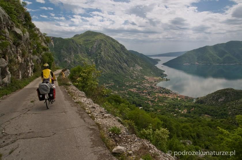 Pierwszy widok na Bokę Kotorską