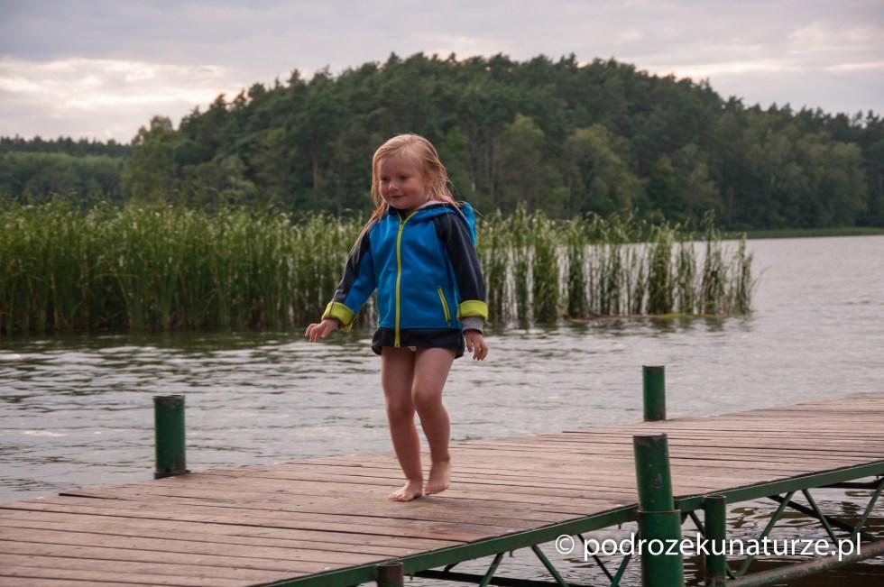 Po kąpieli w Jeziorze Sosno