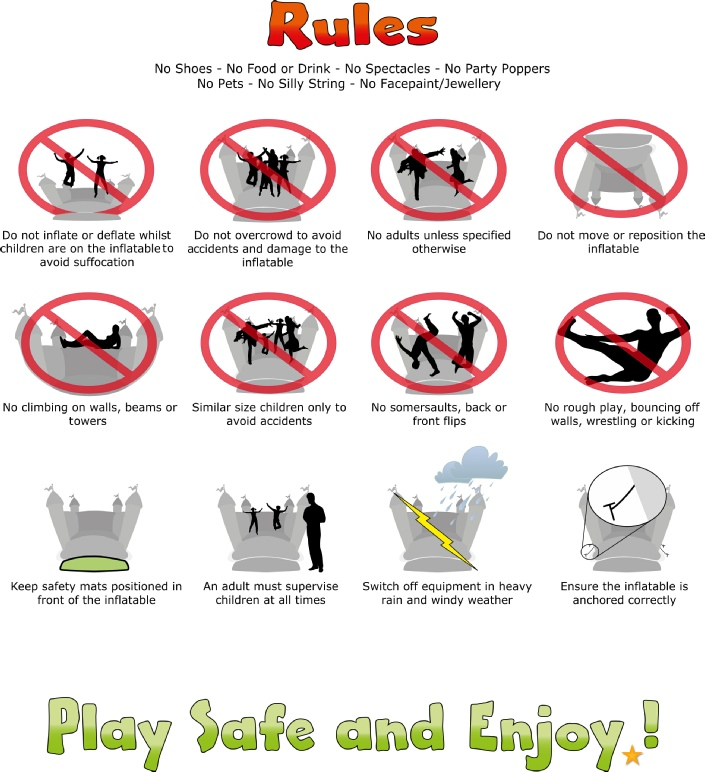 Bouncy Castle Safety do's and don'ts