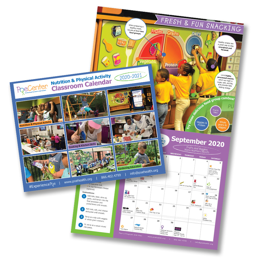 hight resolution of 2020-2021 Nutrition \u0026 Physical Activity Classroom Calendar   Poe Center for  Health Education in NC