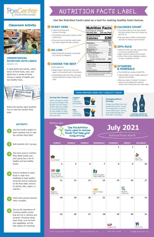 small resolution of 2020-2021 Nutrition \u0026 Physical Activity Classroom Calendar   Poe Center for  Health Education in NC