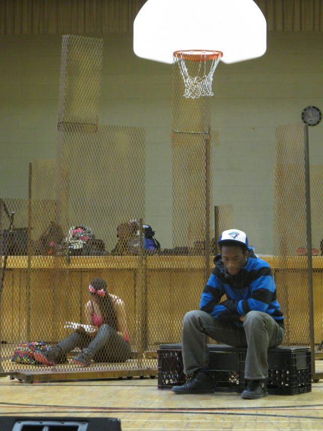 show in the gym in high school