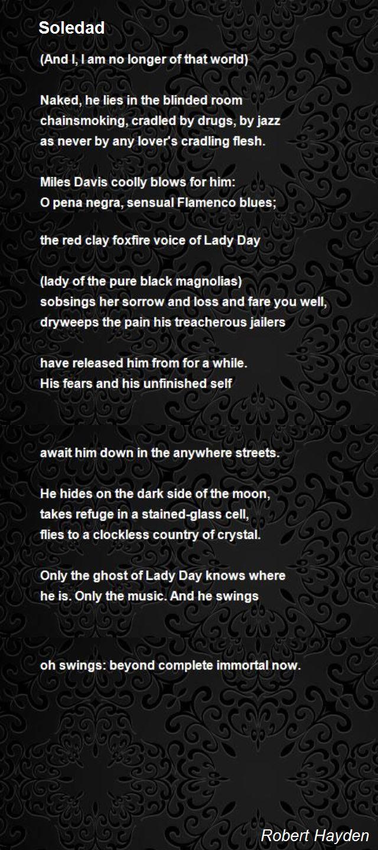 Soledad Poem by Robert Hayden  Poem Hunter
