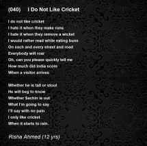 cricket poem