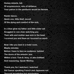 A Chair For My Mother Gold Velvet To Television Poem By Robert Pinsky - Hunter