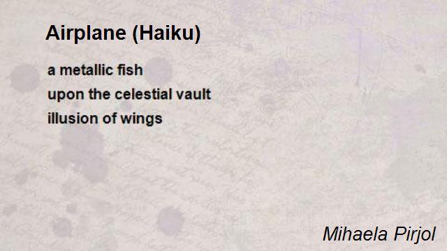 Airplane Haiku Poem By Mihaela Pirjol Poem Hunter