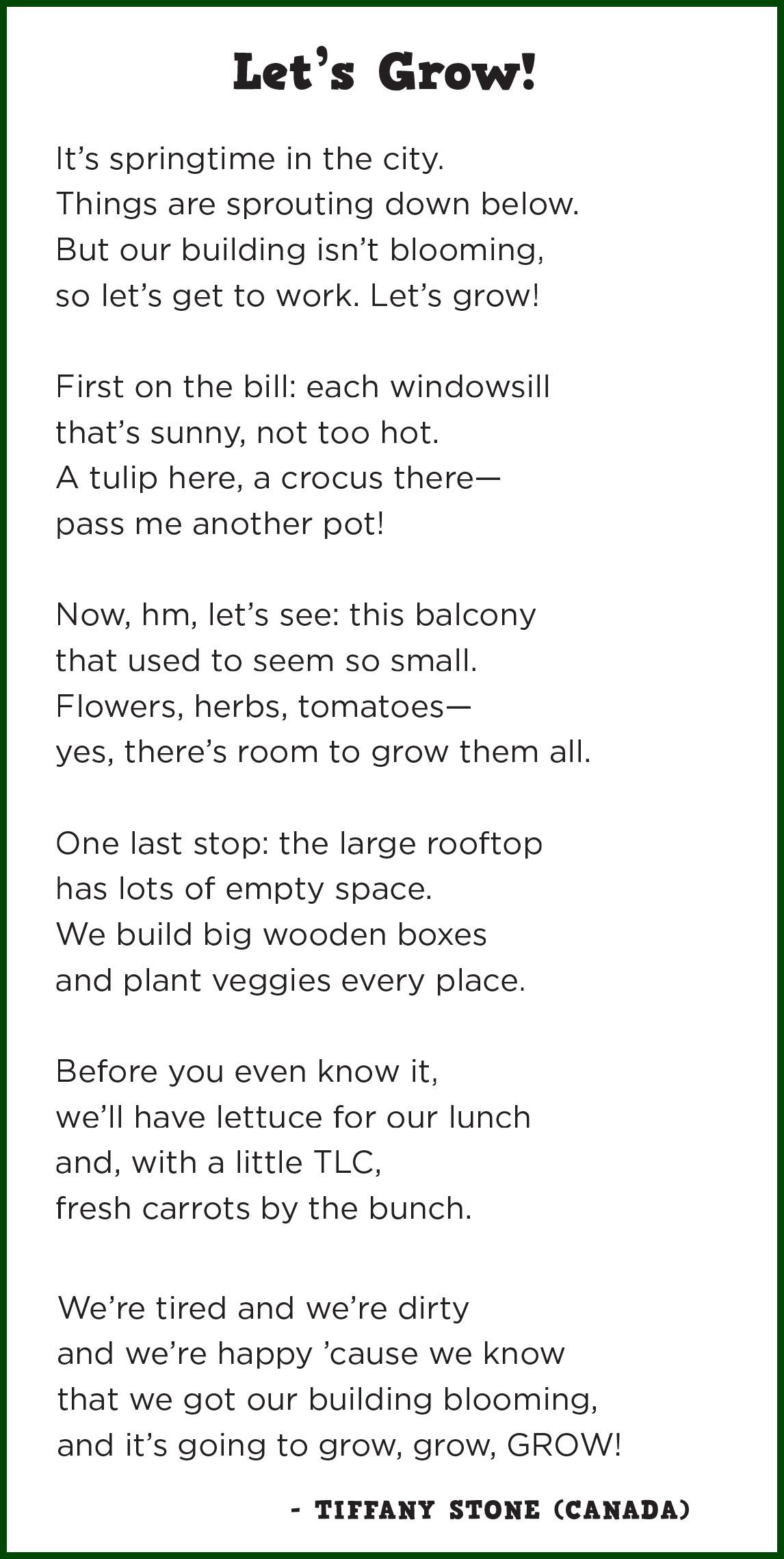 Planting Poems