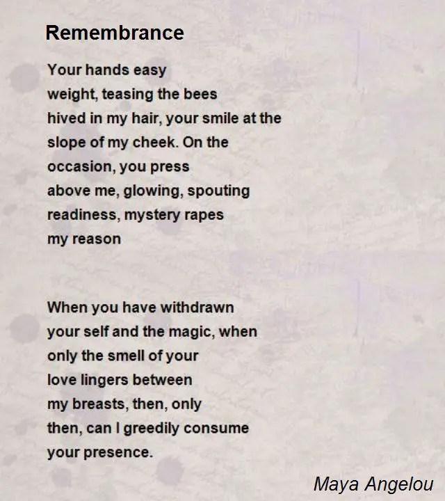 Maya angelou short Poems
