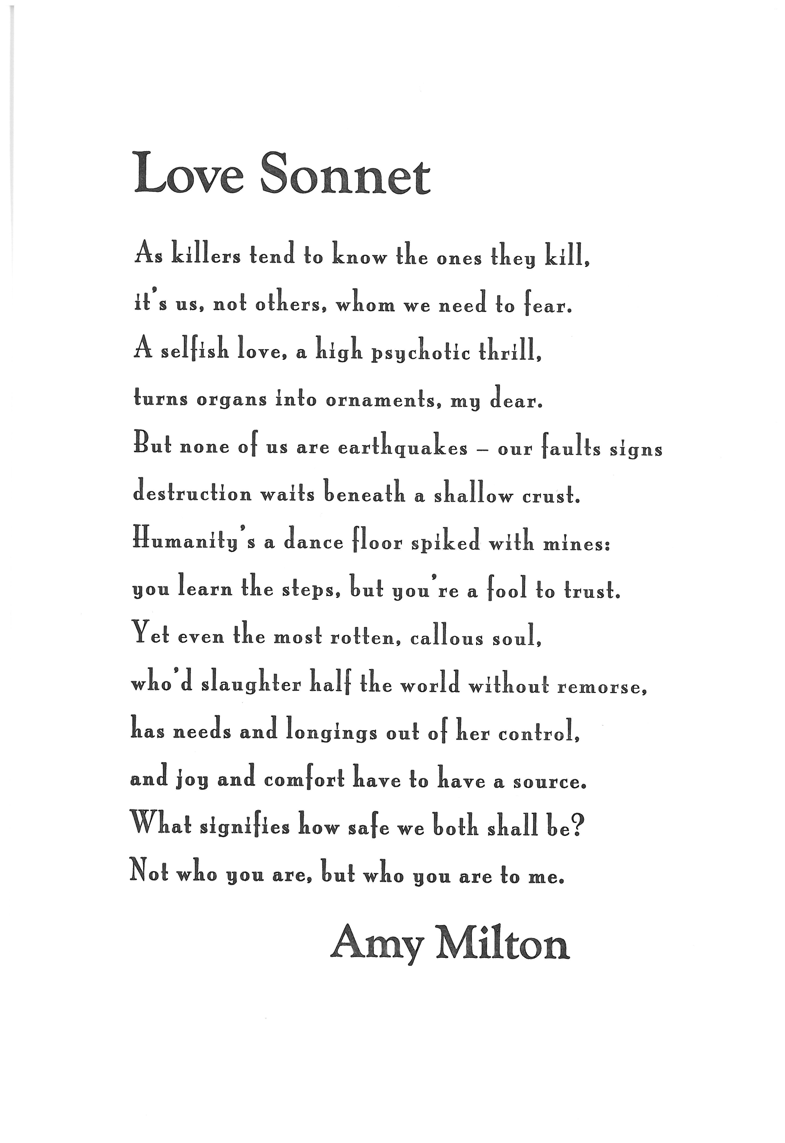 Sonnet Love Poems