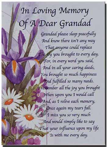 Grandfather Memorial Poems