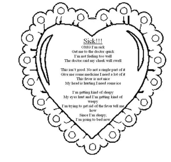 Sick valentines Poems