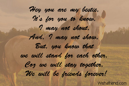 Short best friend poems