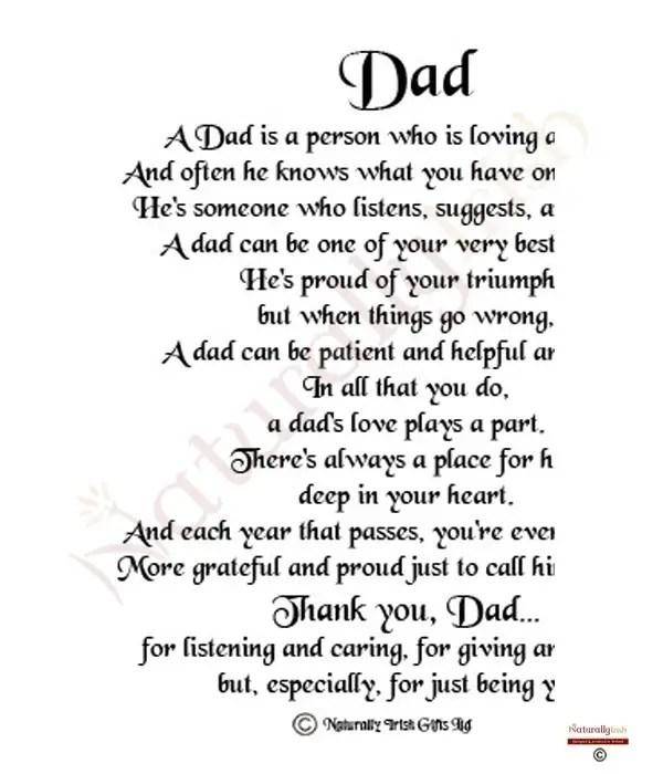 Dad Poems