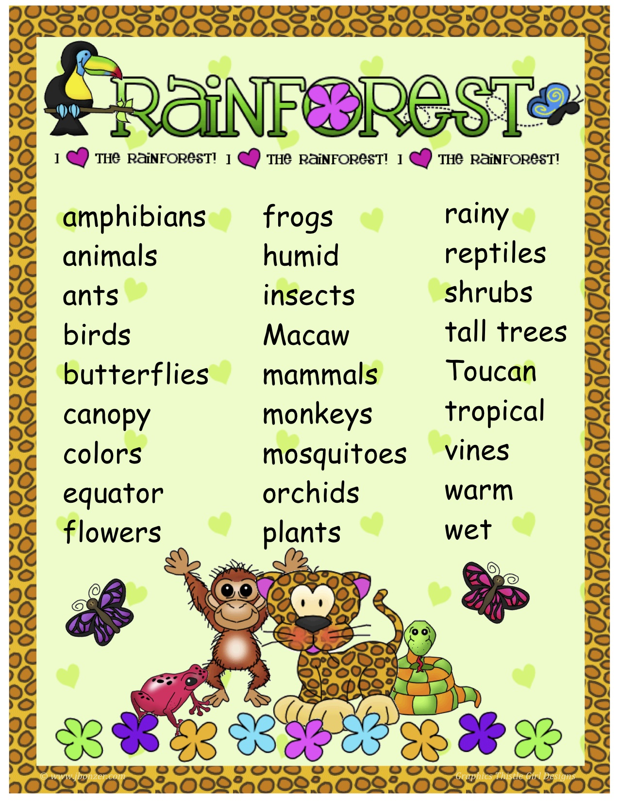 Rainforest Poems