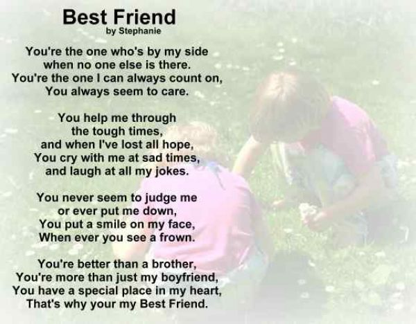 Friend short poem on my 20 Friendship