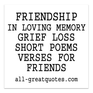 Short grief Poems