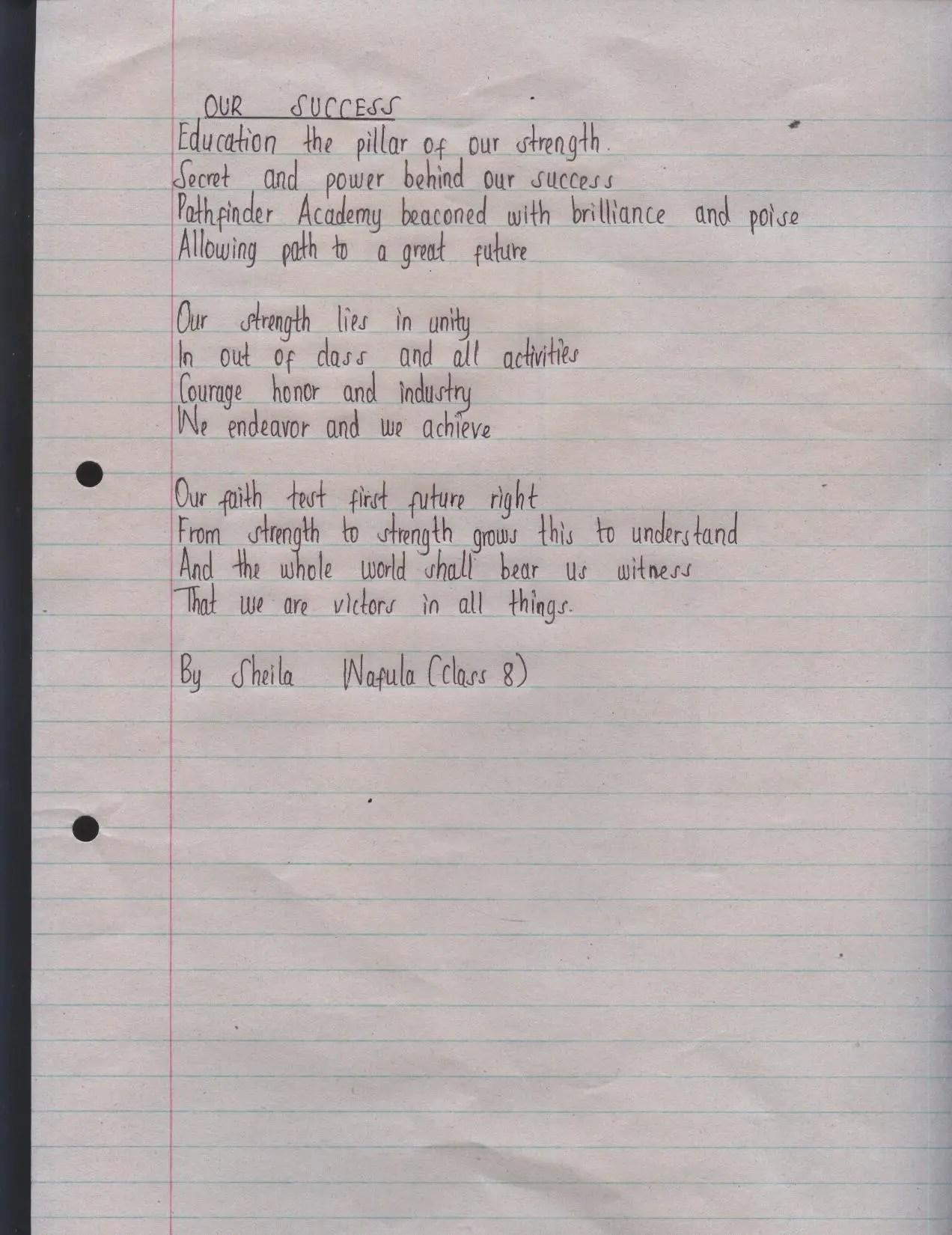 High school Poems