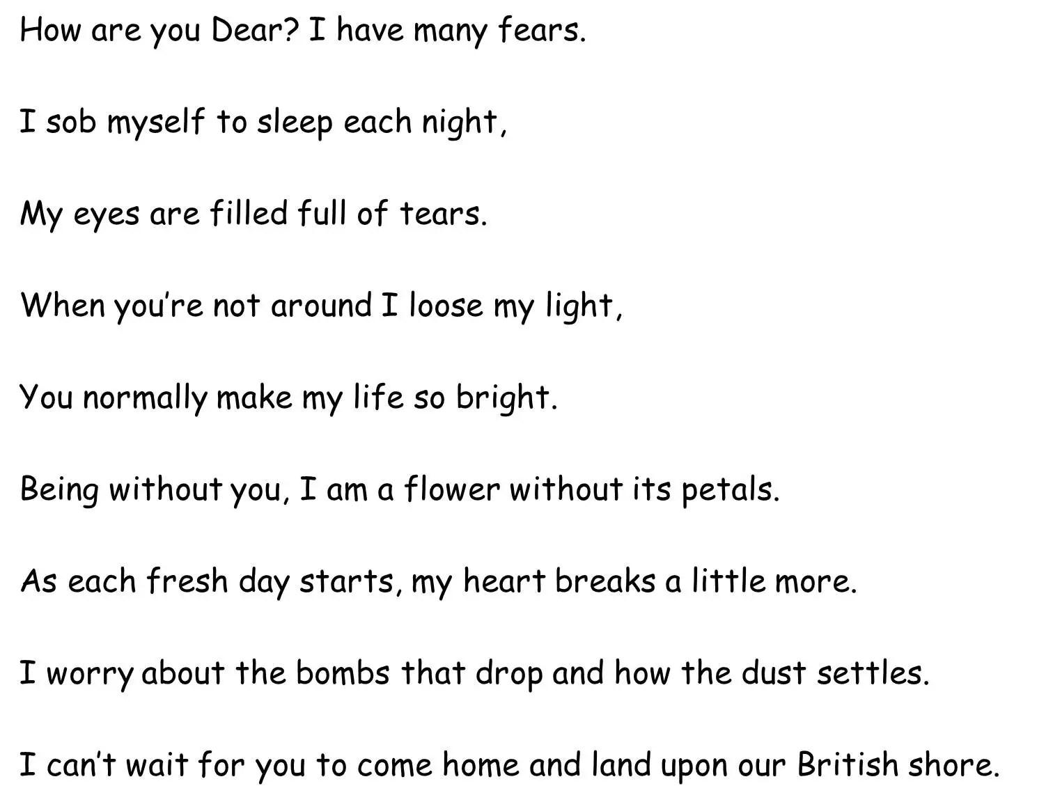 World War 1 Poems