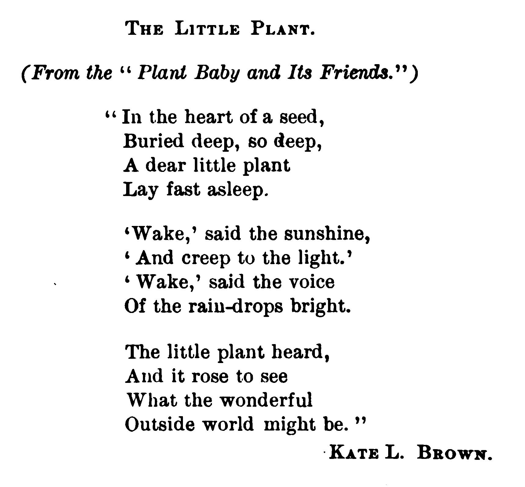 Plant Poems