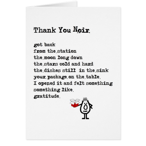 Funny thank you Poems