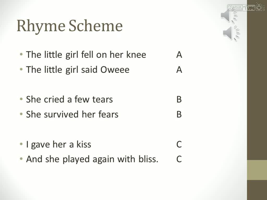 Rhyme Scheme Poems