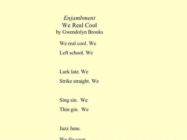 Enjambment Poems Poems