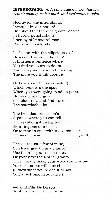 Vocabulary Poems