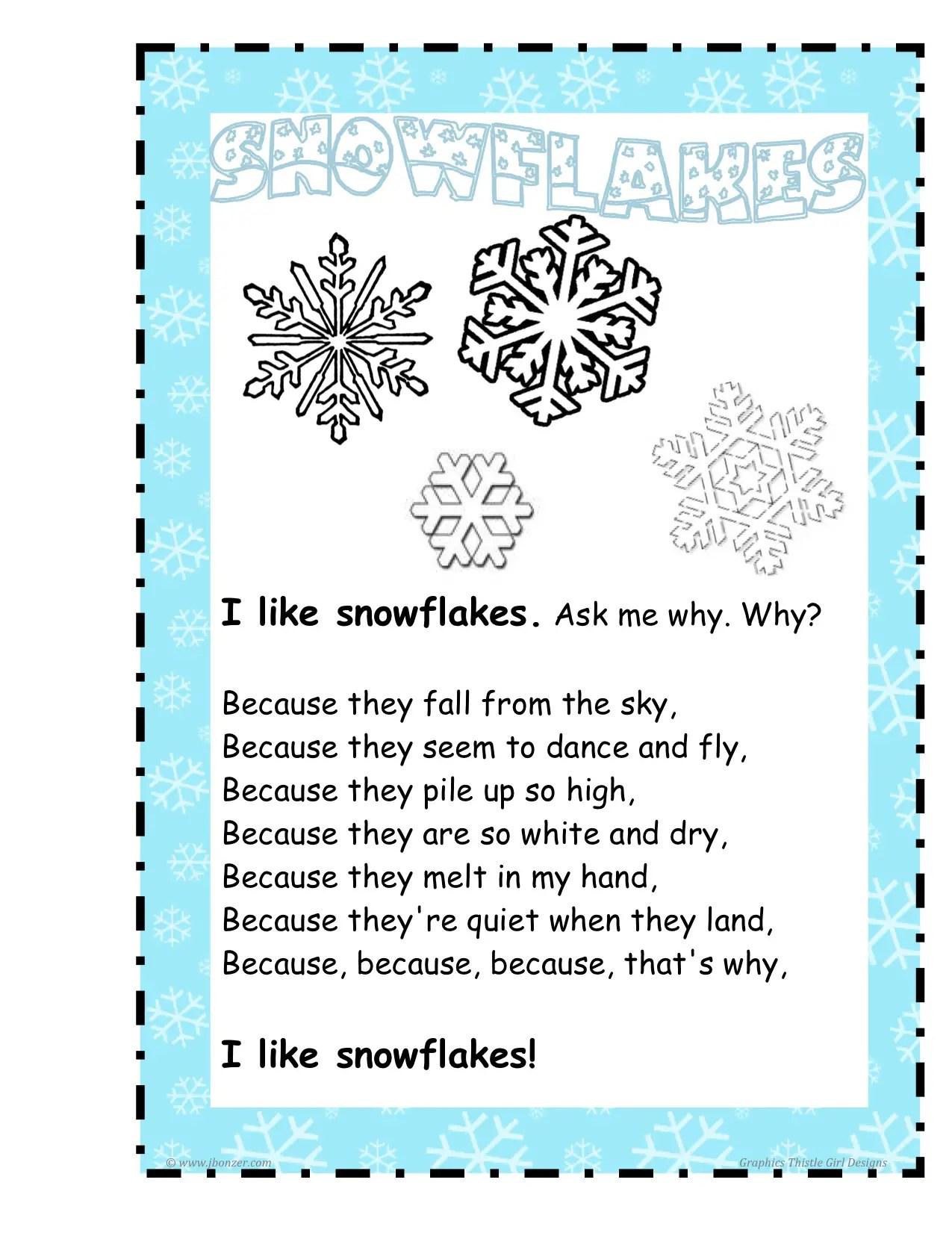 Winter Fact Family Worksheet