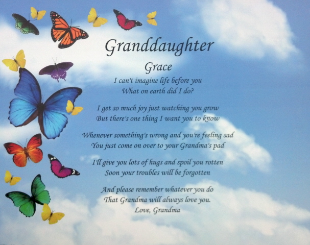 Grandma And Granddaughter Poems