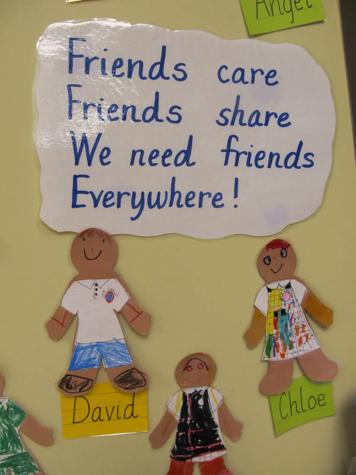 Preschool Friendship Poems