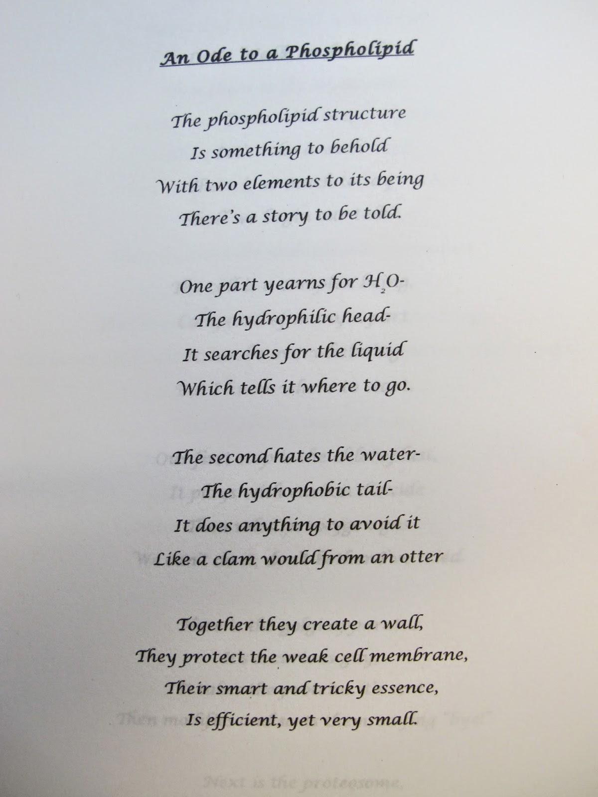 Biology Poems