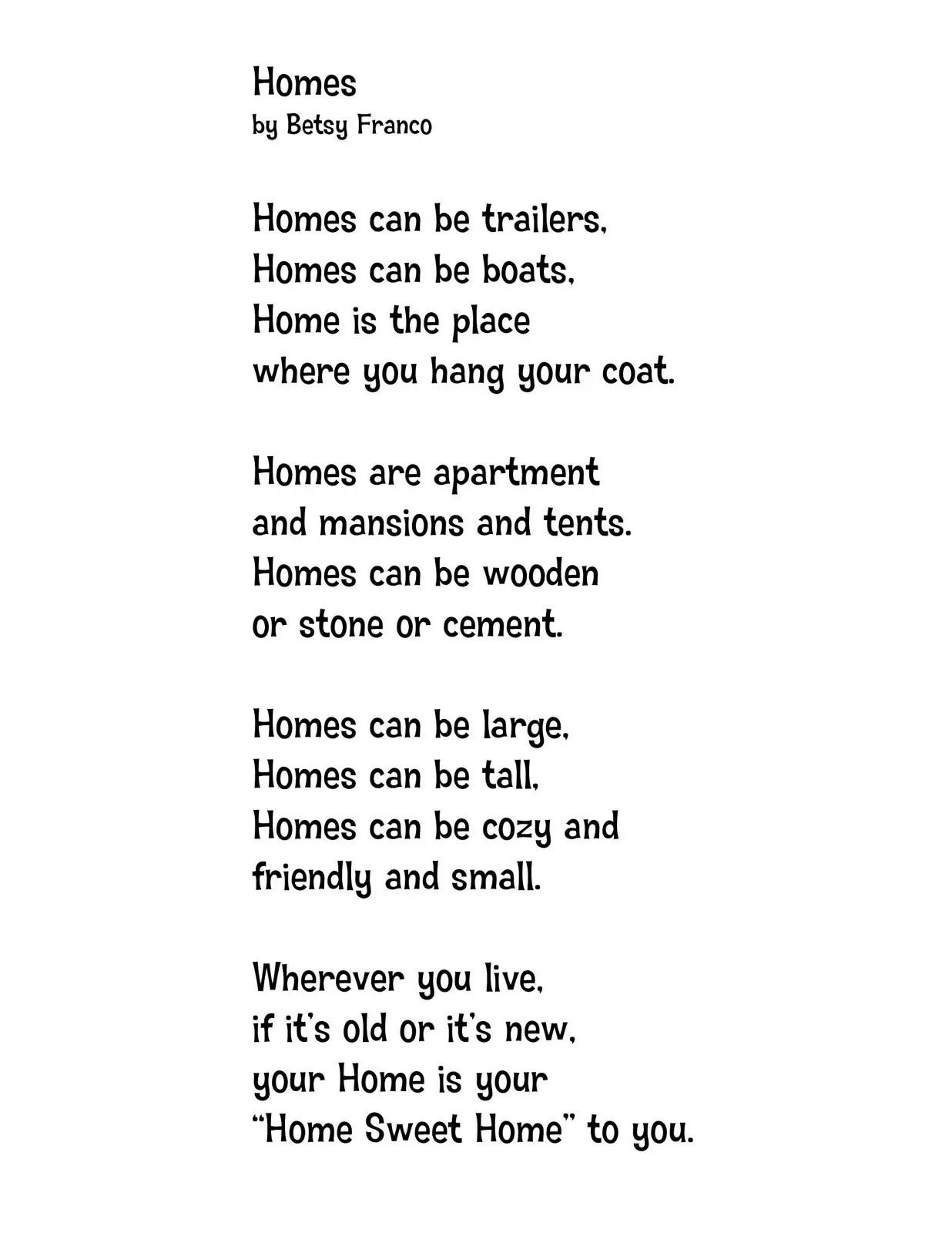 6 Grade Poems