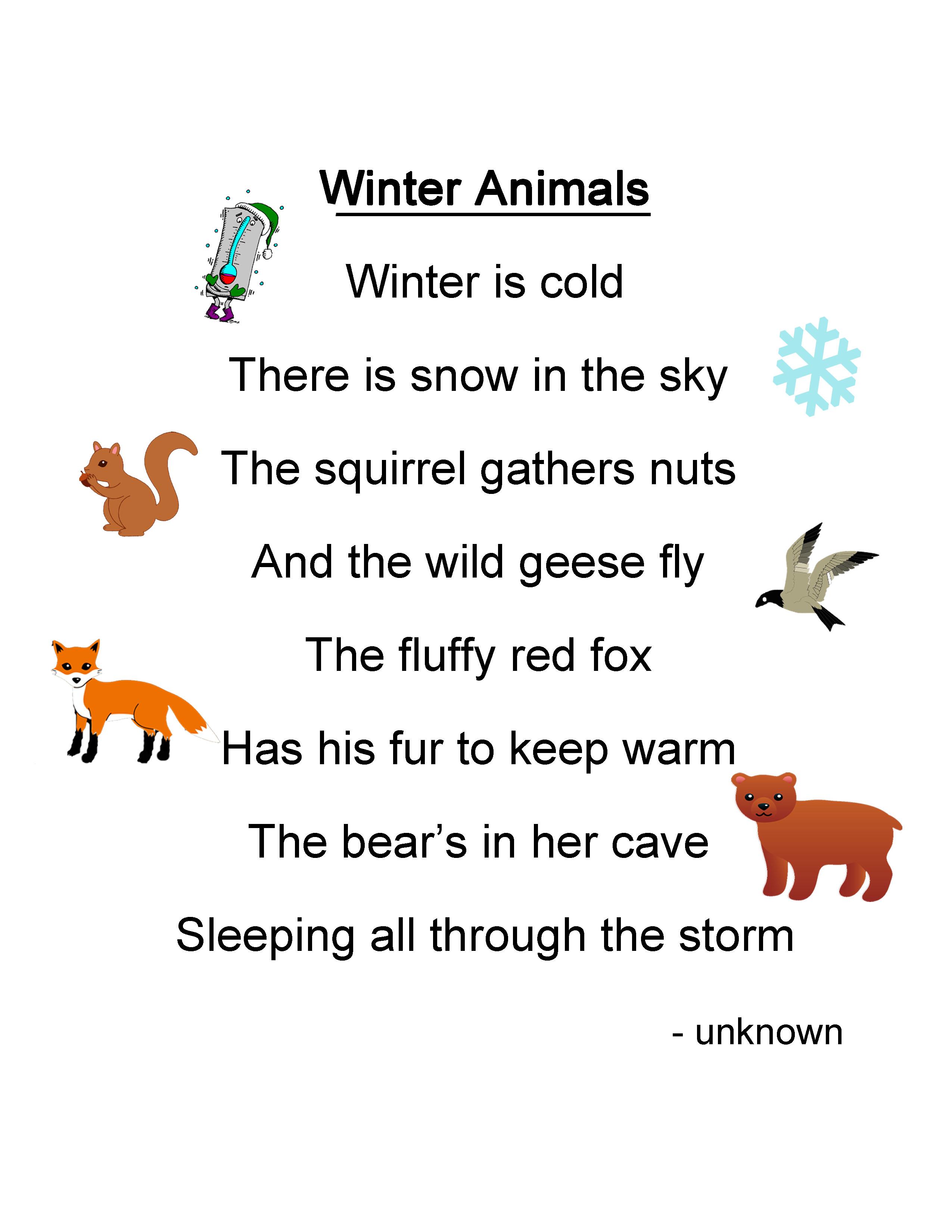 Kids Animal Poems