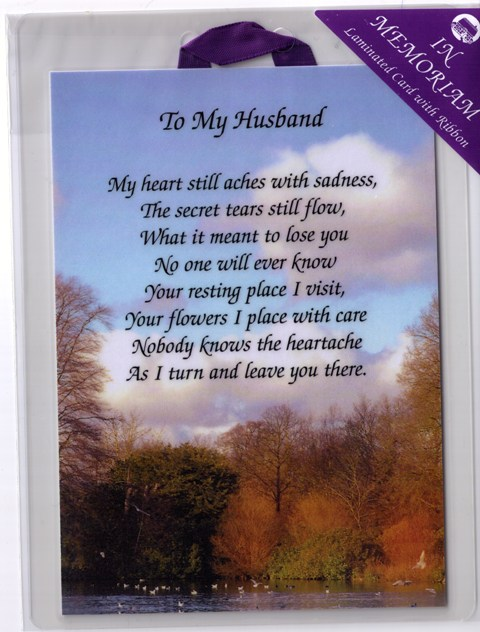Husband Memorial Poems