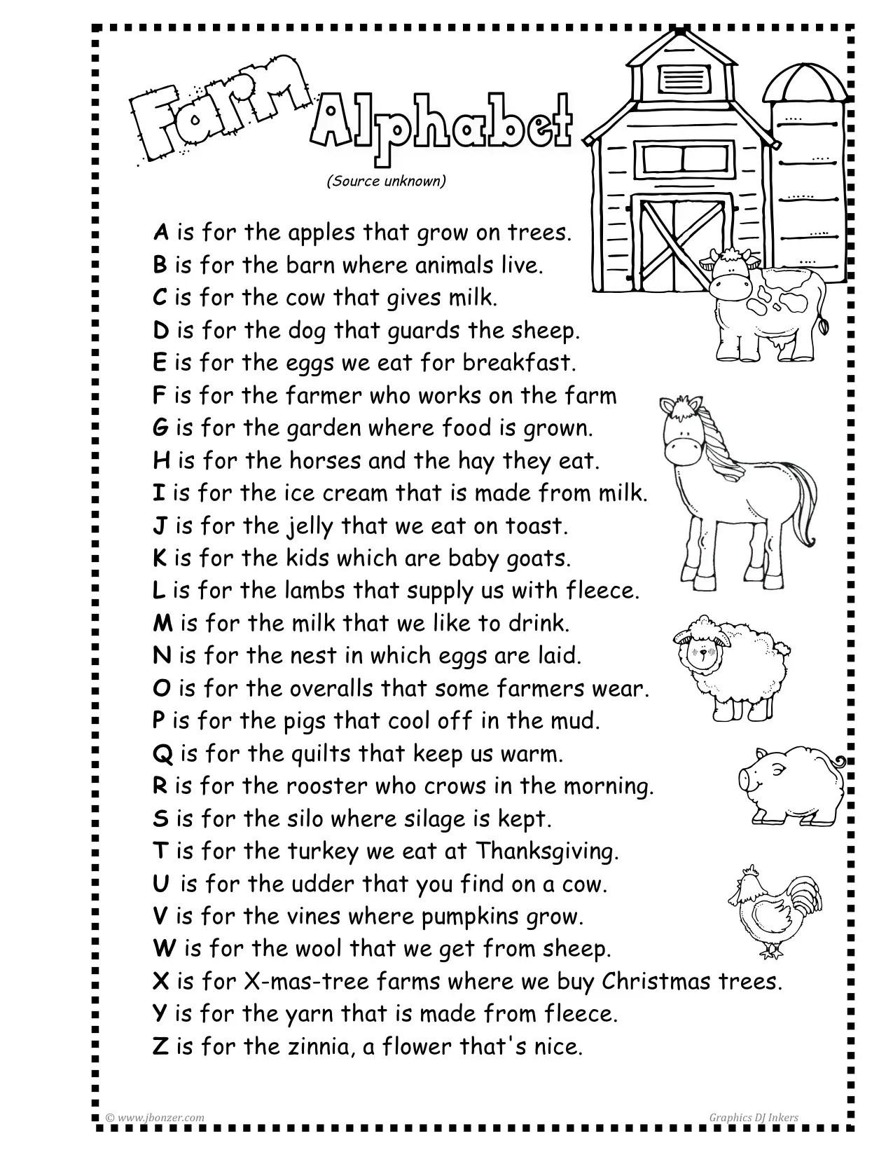 5th Grade Poem Worksheet