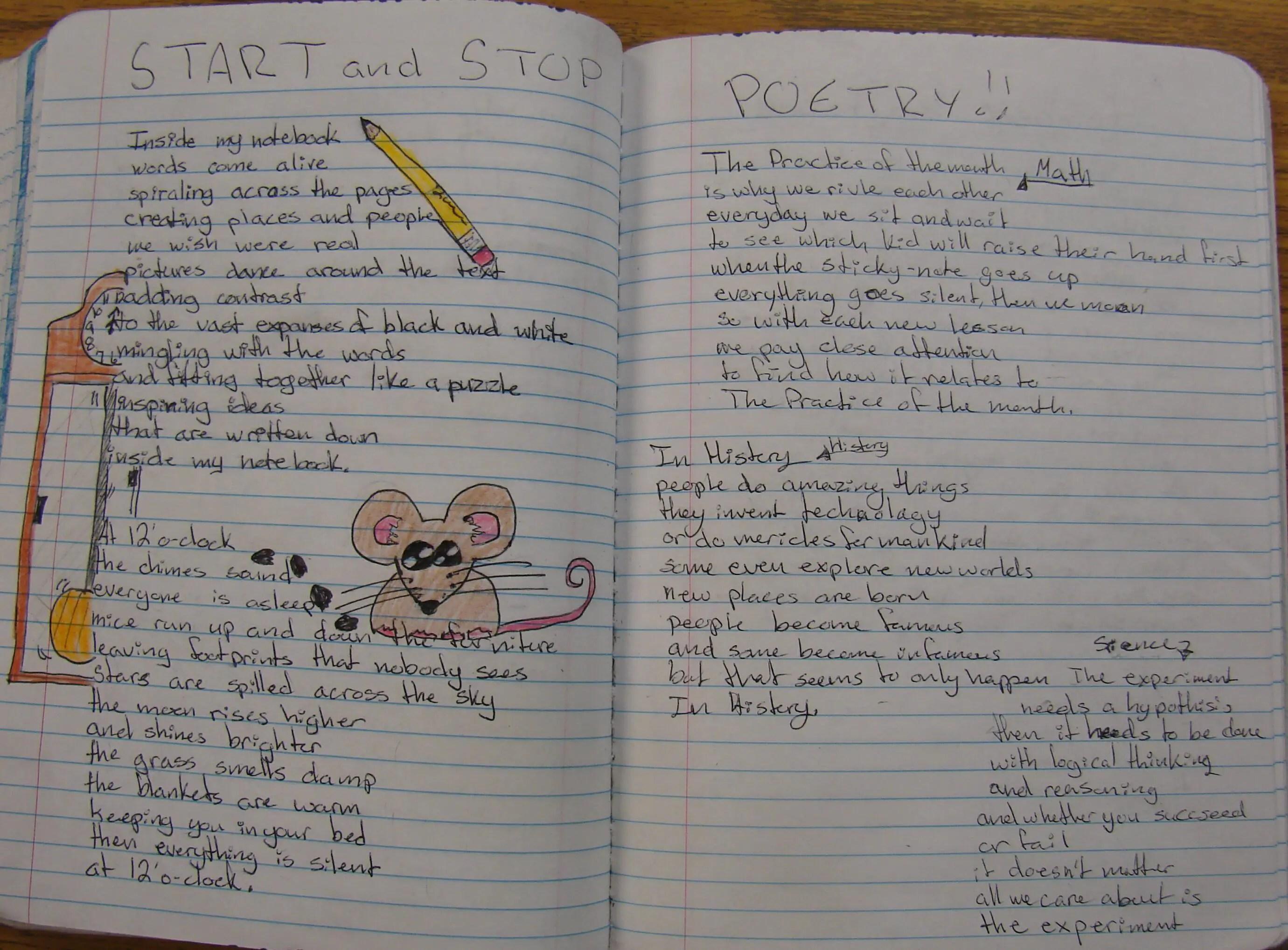 Seventh Grade Poems