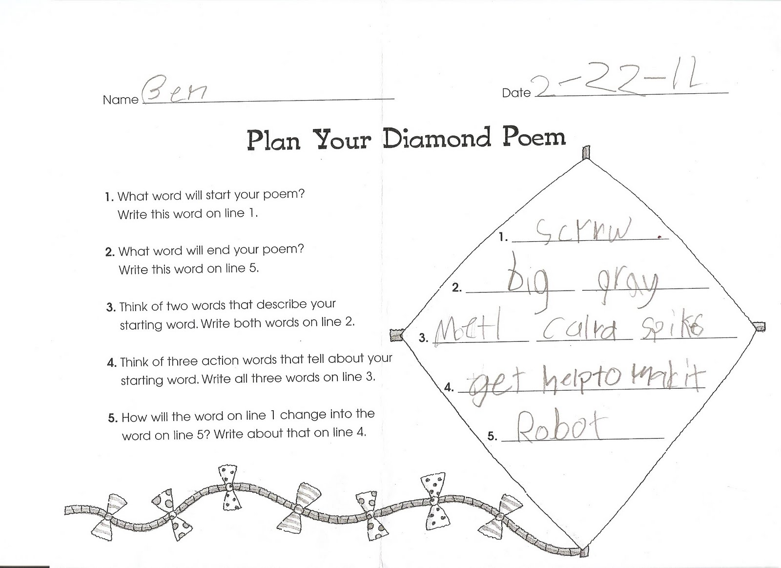 Diamond Poems