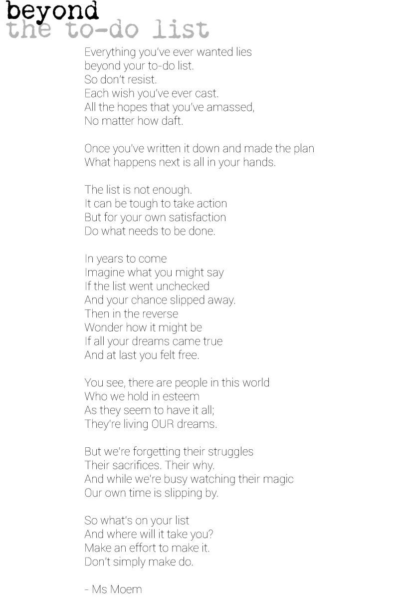 List Poems