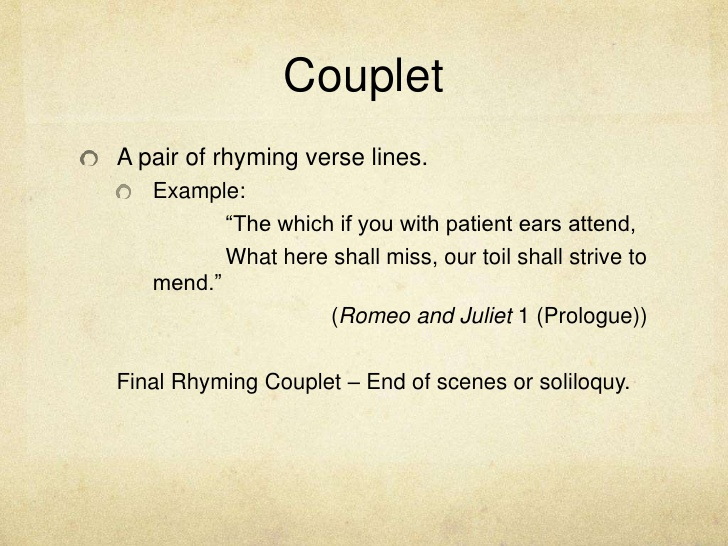 Examples Of Couplet Poems
