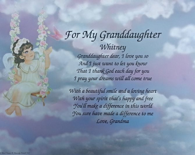 Granddaughter Grandmother Poems