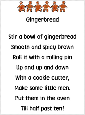 Gingerbread Poems