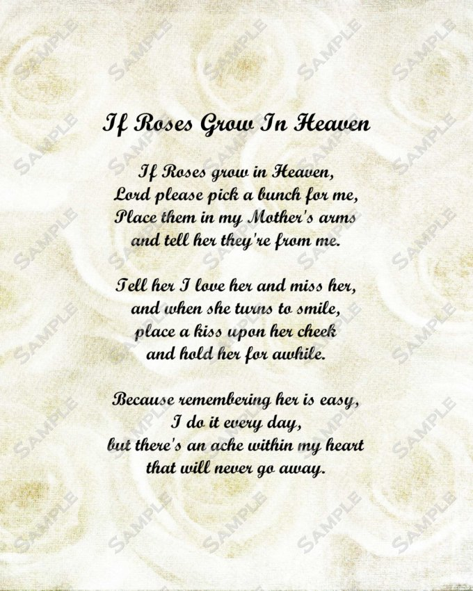 Happy Birthday Letter To Mom In Heaven Save Template