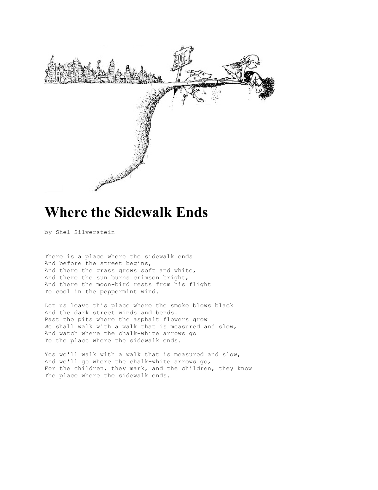 Where The Sidewalk Ends Poems