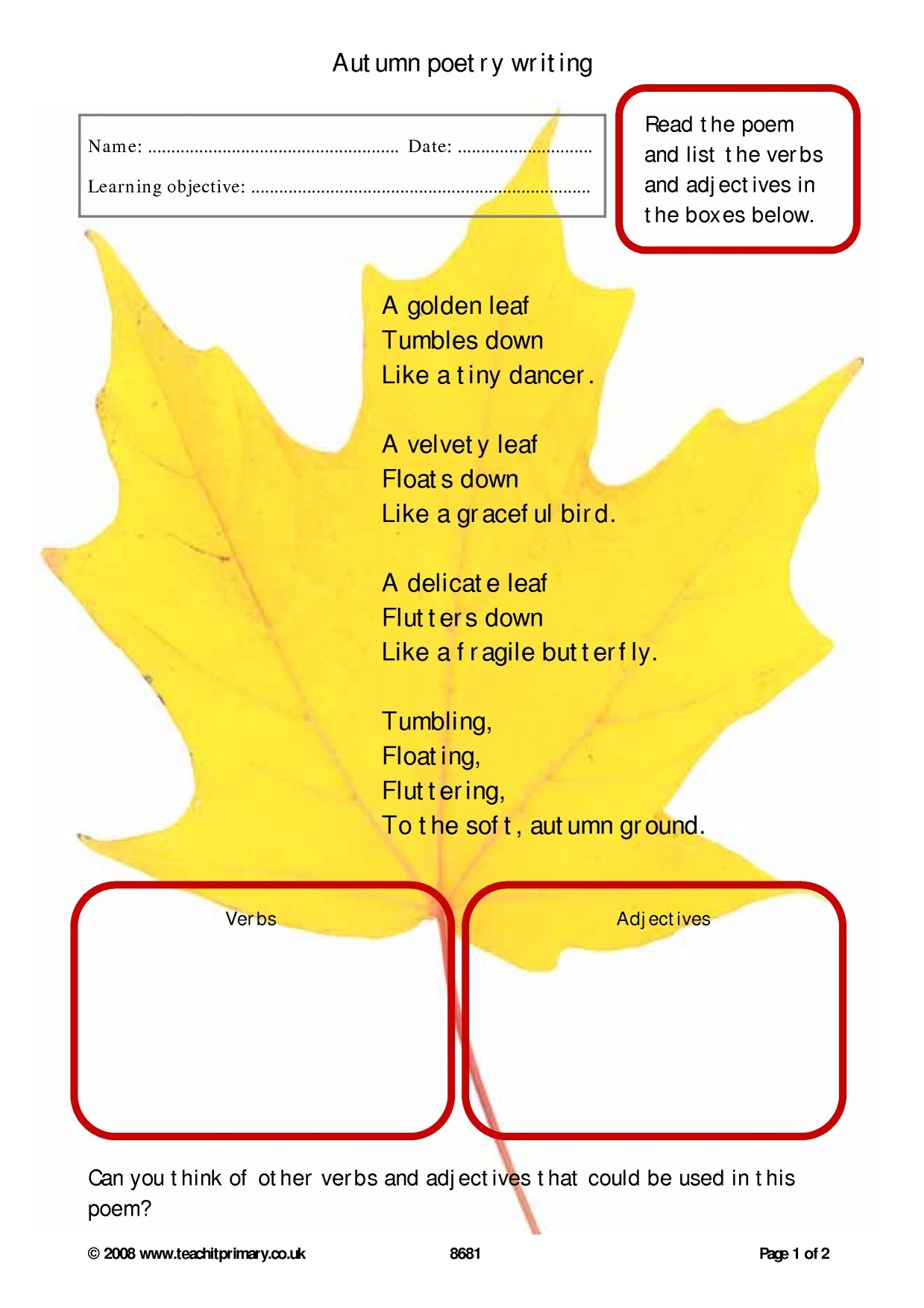 Ks1 Poems