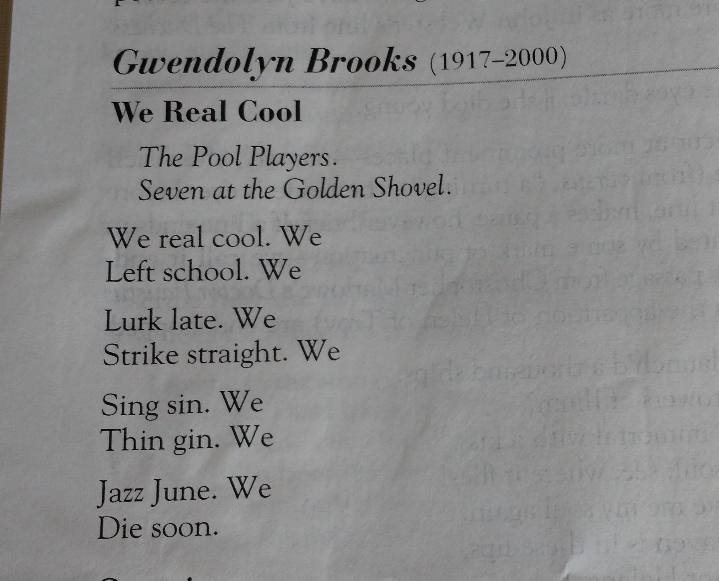 Brooks Poems