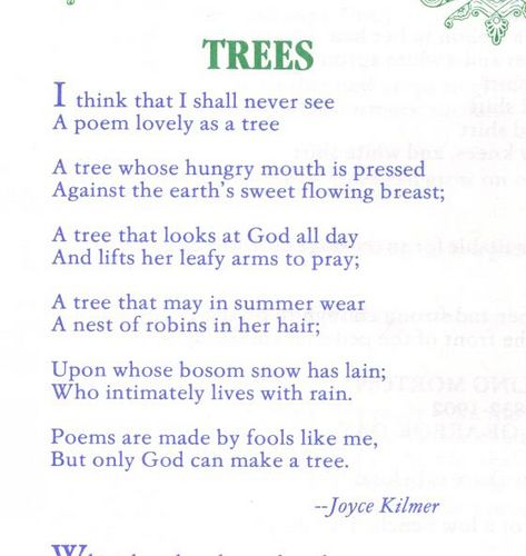 trees poems in english creativepoem co
